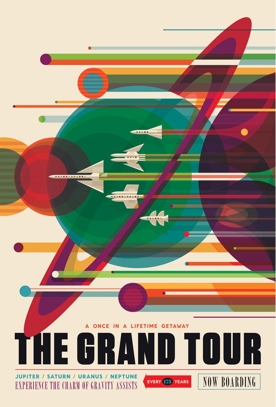 NASA space travel posters