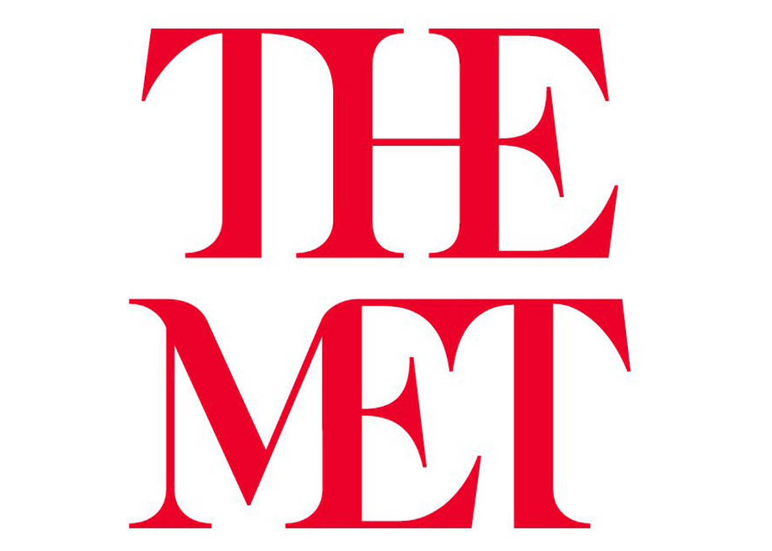 The new logo is a stacked version of the words The Met with conjoined letters in each word. Image courtesy of The Metropolitan Museum of Art