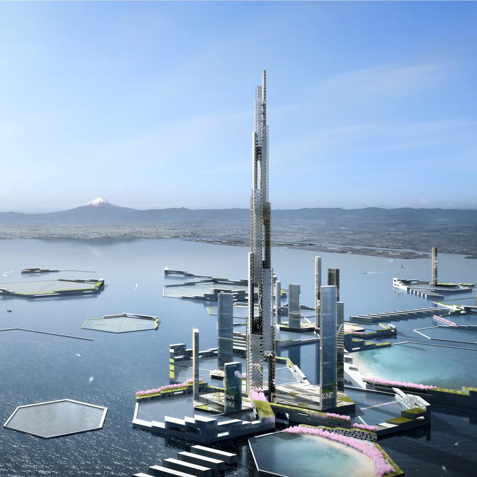 KPF conceives futuristic new city quarter for archipelago in Tokyo Bay