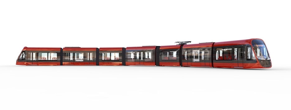 Nice tramway by Ora ïto and Alstom