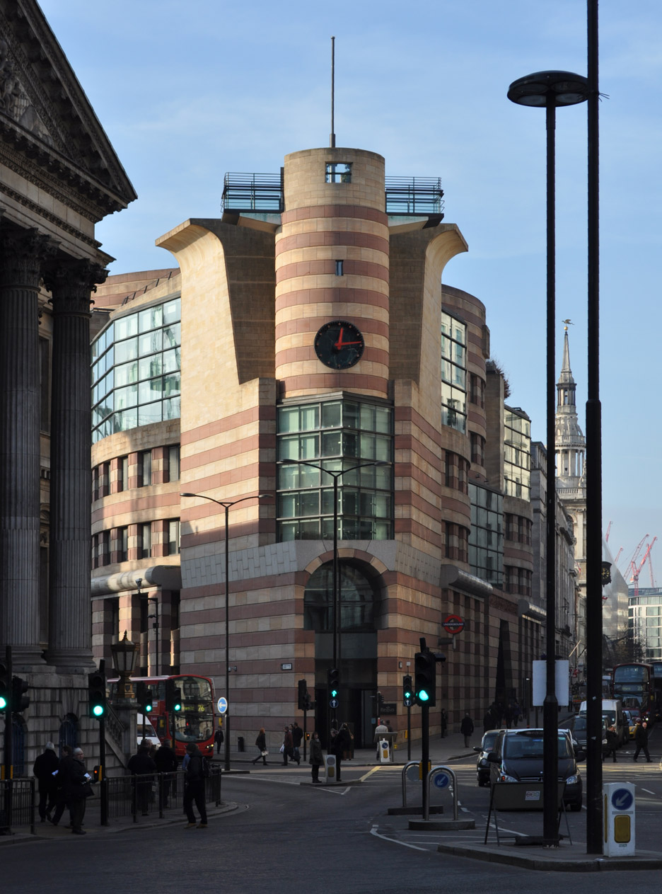 No 1 Poultry, London, 1994-98, by James Stirling