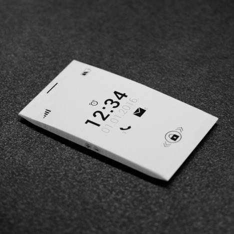 """""""Badass"""" e-ink O phone by Alter Ego Architects aims to eliminate the need for apps"""