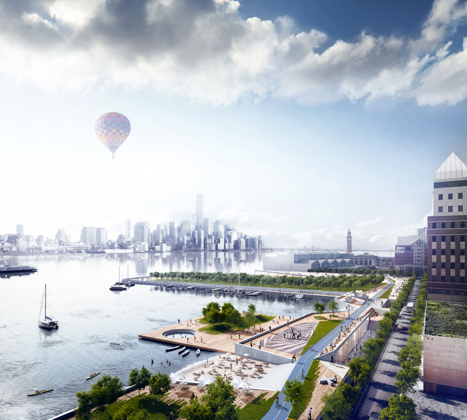 Idea for the rebuilding of Hoboken, New Jersey after Hurricane Sandy in 2012