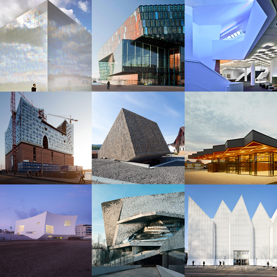 Dezeen Pinterest board full of concert halls