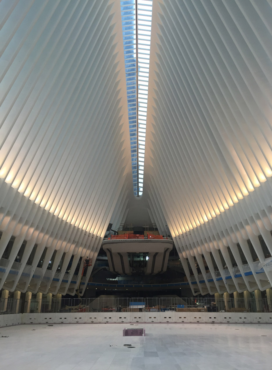 The World Trade Center Transportation Hub by Santiago Calatrava