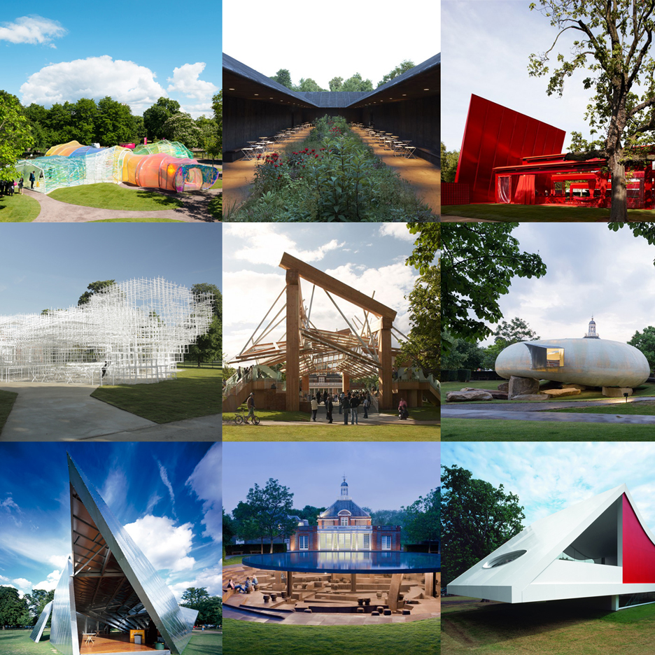 Every Serpentine Gallery Pavilion features on Dezeen's updated Pinterest board