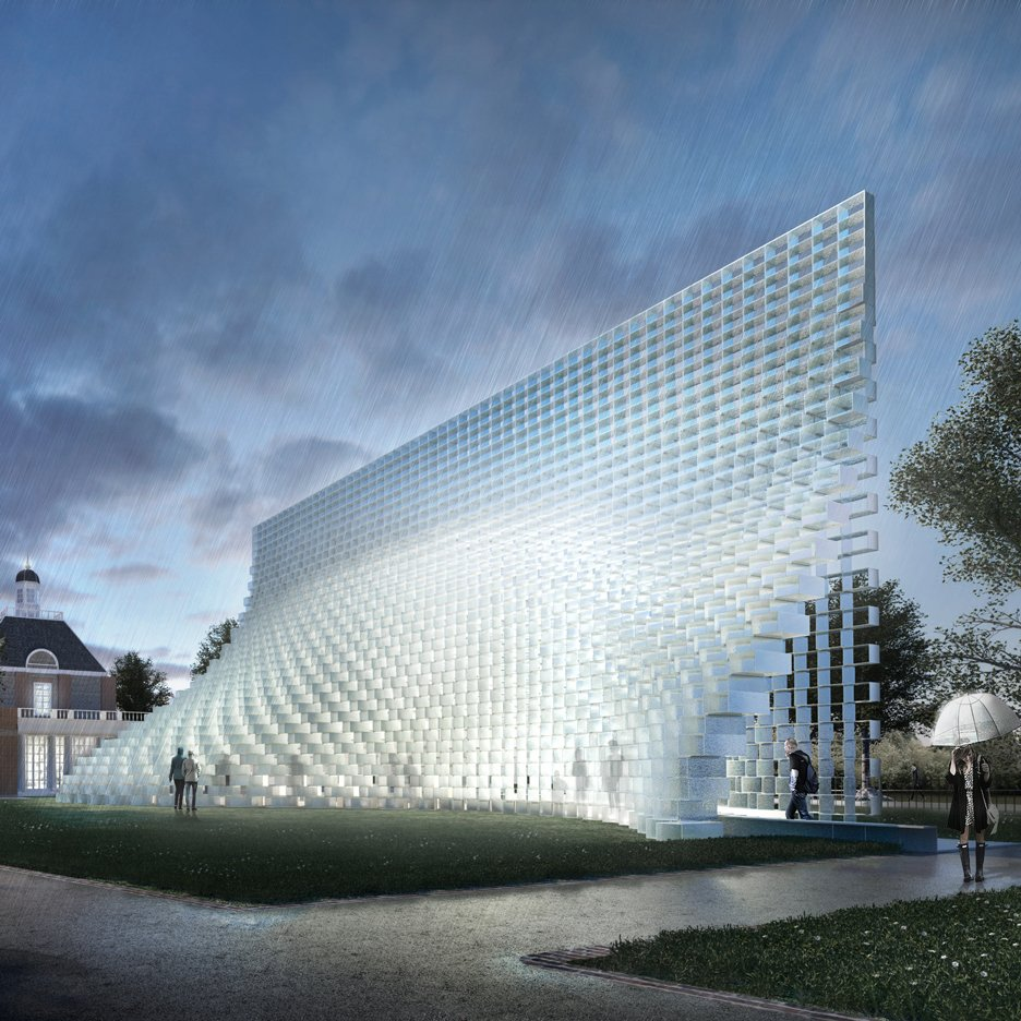"Bjarke Ingels' Serpentine Gallery Pavilion conceived as an ""unzipped wall"""