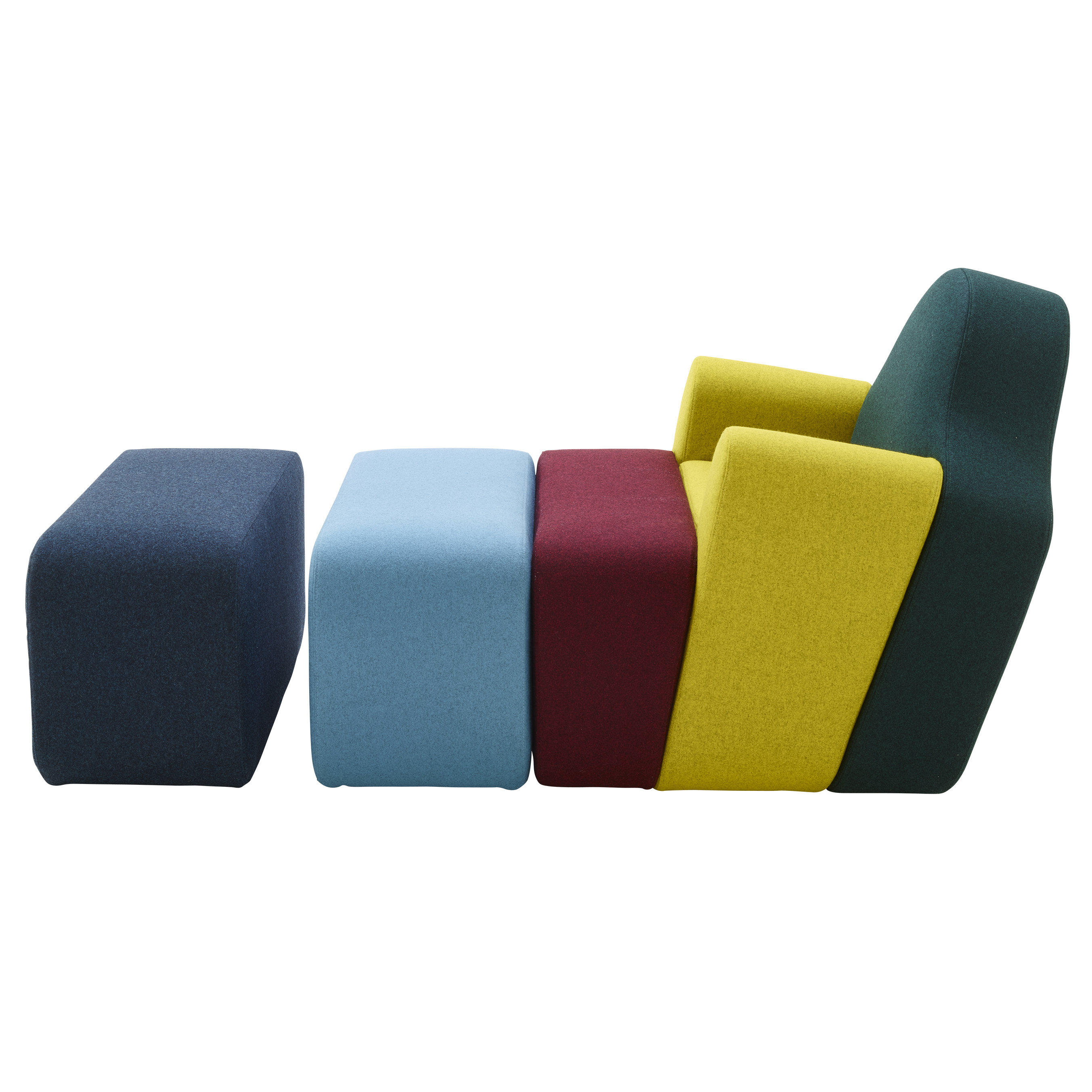 Pierre Charpin's Slice chair for Cinna is split up into blocks