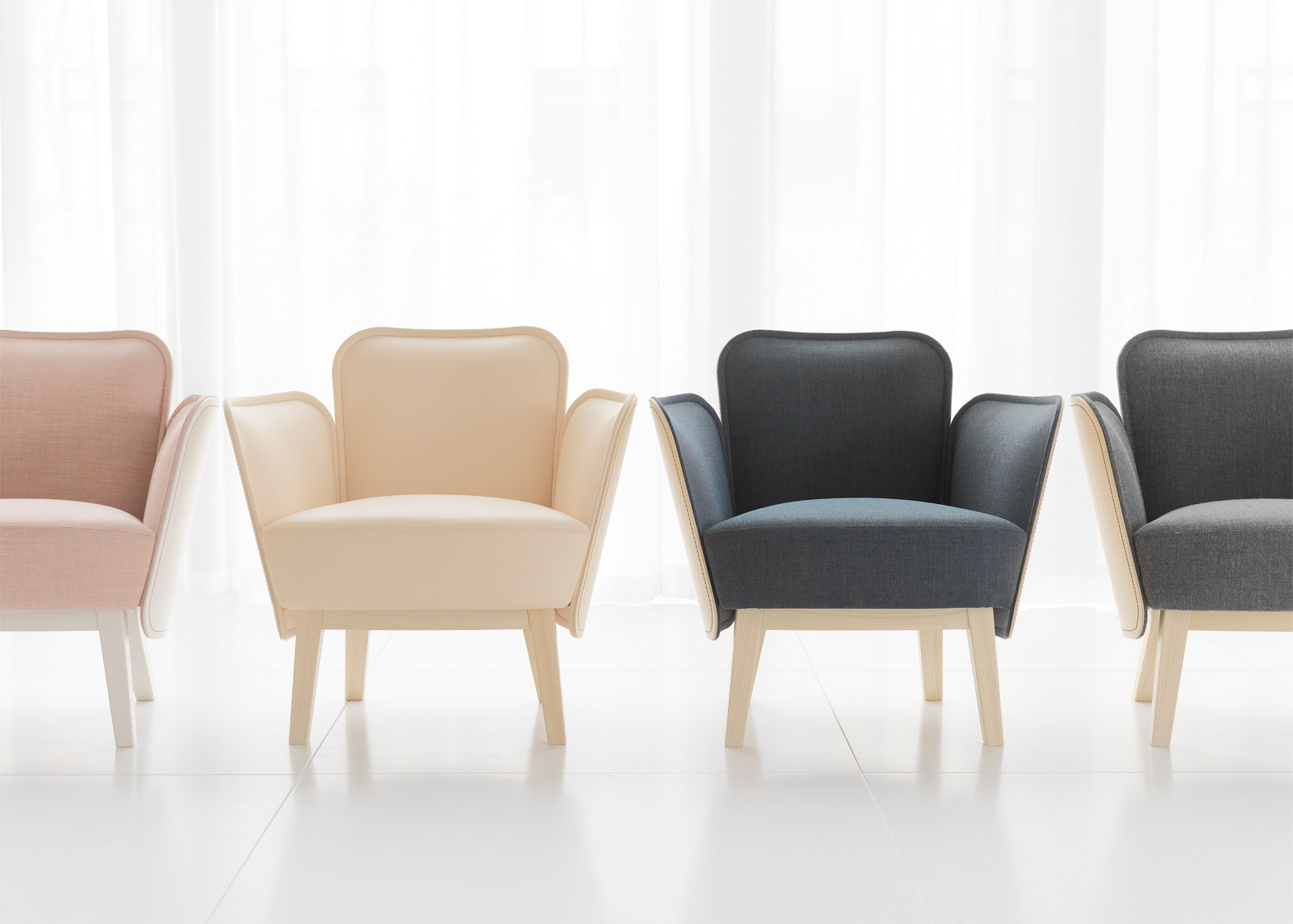 Sofa and armchair by Farg & Blanche for Gärsnäs