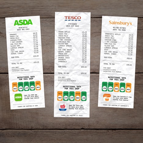 Hayden Peek aims to tackle obesity with supermarket receipt graphics