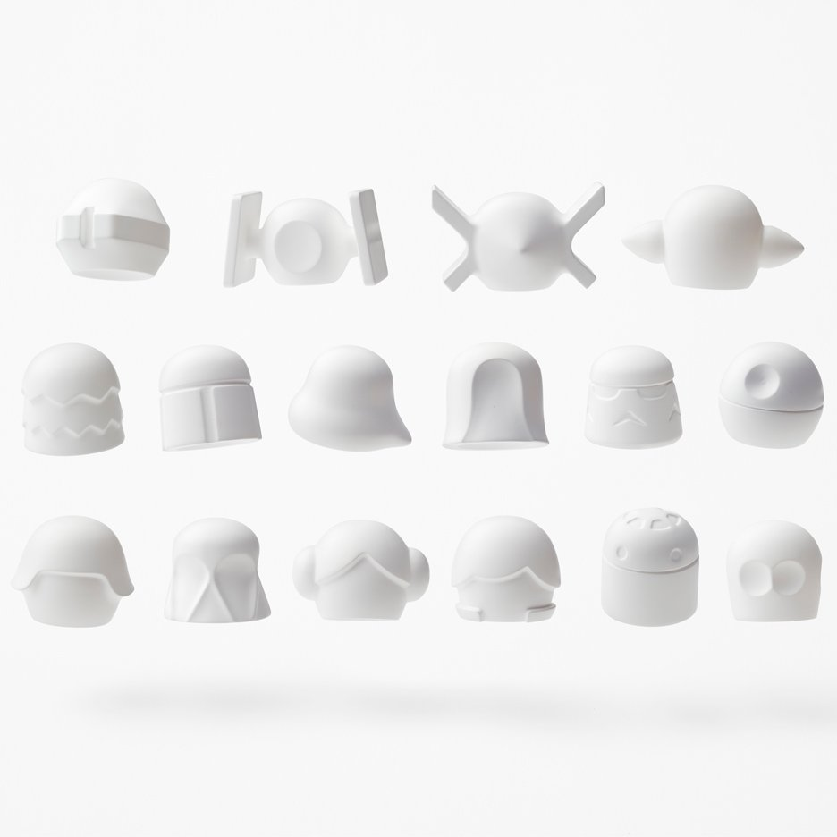 Nendo simplifies Star Wars characters to make miniature minimal models