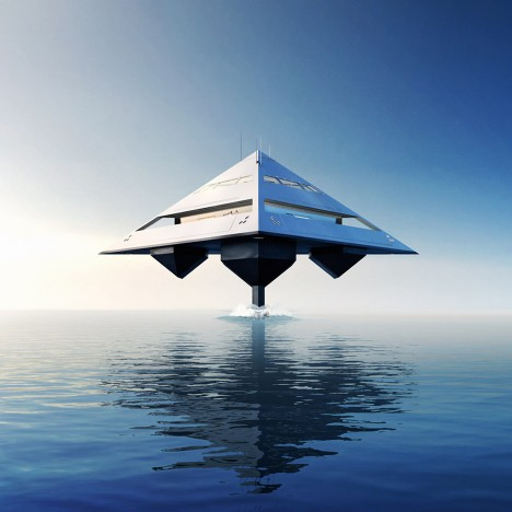 Schwinge unveils futuristic pyramid-shaped Tetra superyacht concept