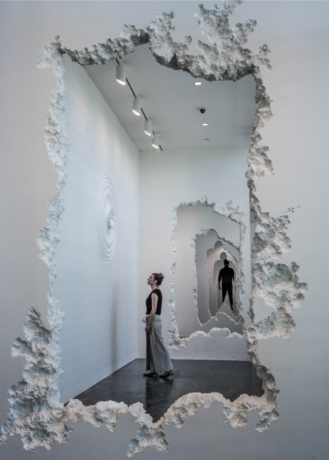 The Future Was Then exhibition by Daniel Arsham at the SCAD Museum of Art in Savannah, Georgia, USA