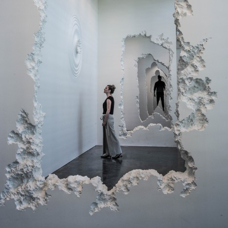 Daniel Arsham evokes knocked-through walls with SCAD installation