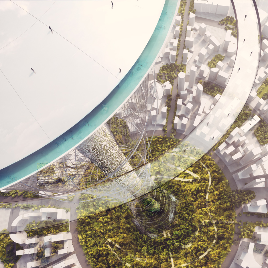 Carlo Ratti designs mile-high observation tower with a park on top