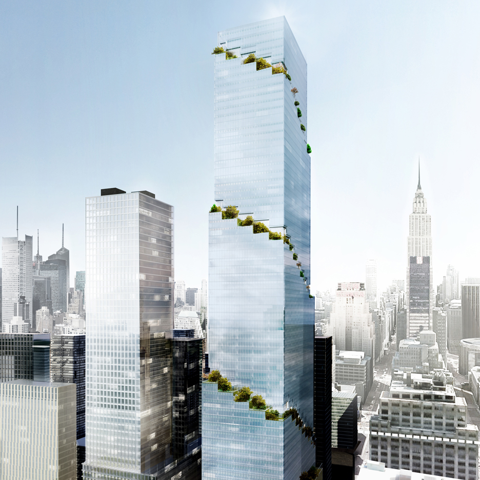 BIG unveils designs for The Spiral office tower in New York