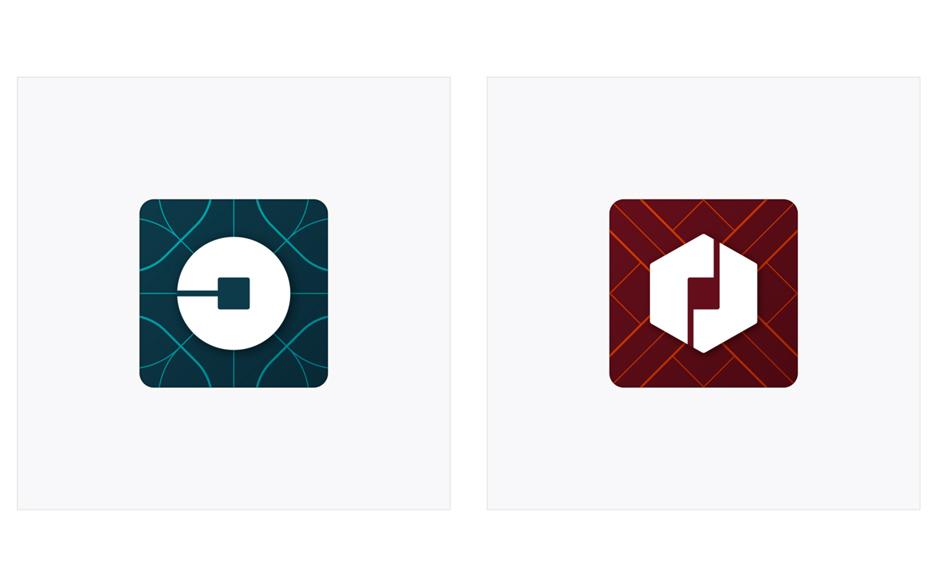Uber's new logos