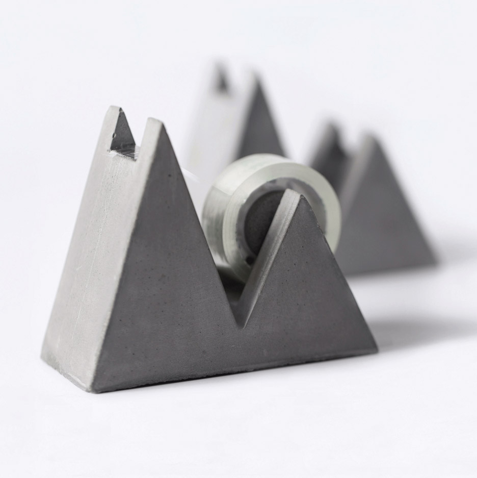 Concrete stationery by Umndesign