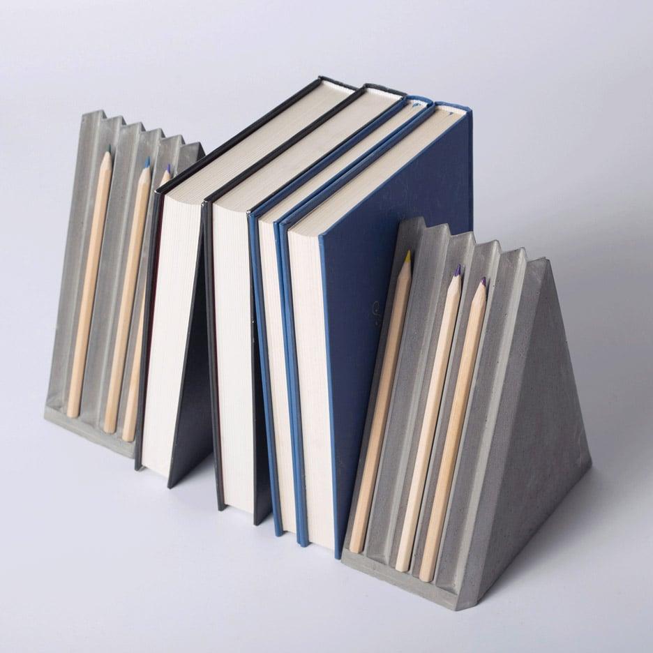Umn Design creates concrete stationery like folded paper