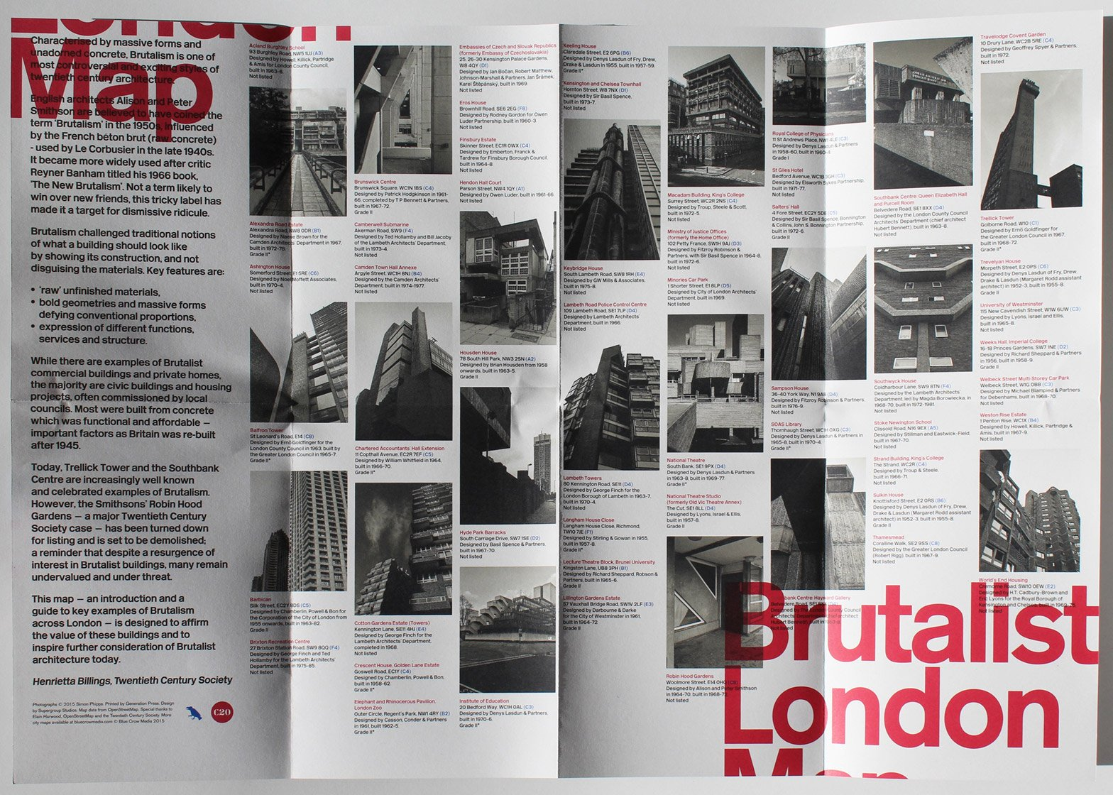 Brutalist London Map by Twentieth Century Society