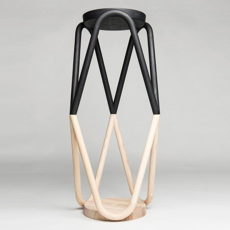 Kristine Five Melvær's Vava stool features zigzag legs