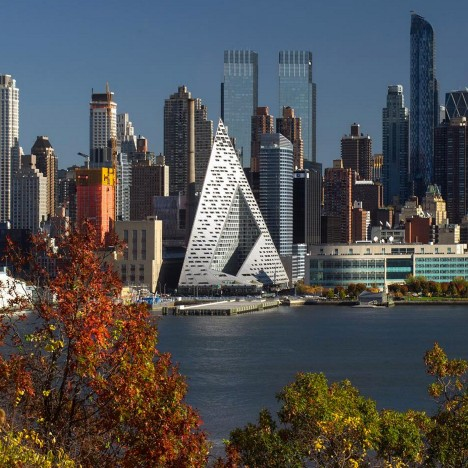 "New York ""courtscraper"" by Bjarke Ingels set to open in March"