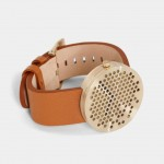 Alexander Lervik's Bikupa watch features a perforated metal face