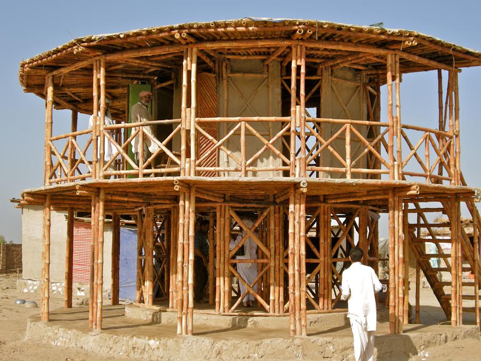 The Women's Centre, Darya Khan, Pakistan, designed by Yasmeen Lari in 2011