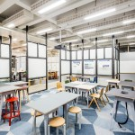 "APA designs ""raw and robust"" collaborative office space for Barclaycard"
