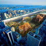 "Sunken ""sidescraper"" bordering New York's Central Park wins skyscraper competition"
