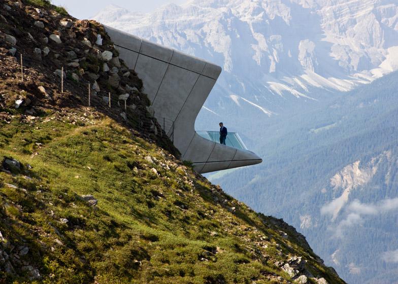 Zaha Hadid's Messner Mountain Museum, Mount Kronplatz, Italy