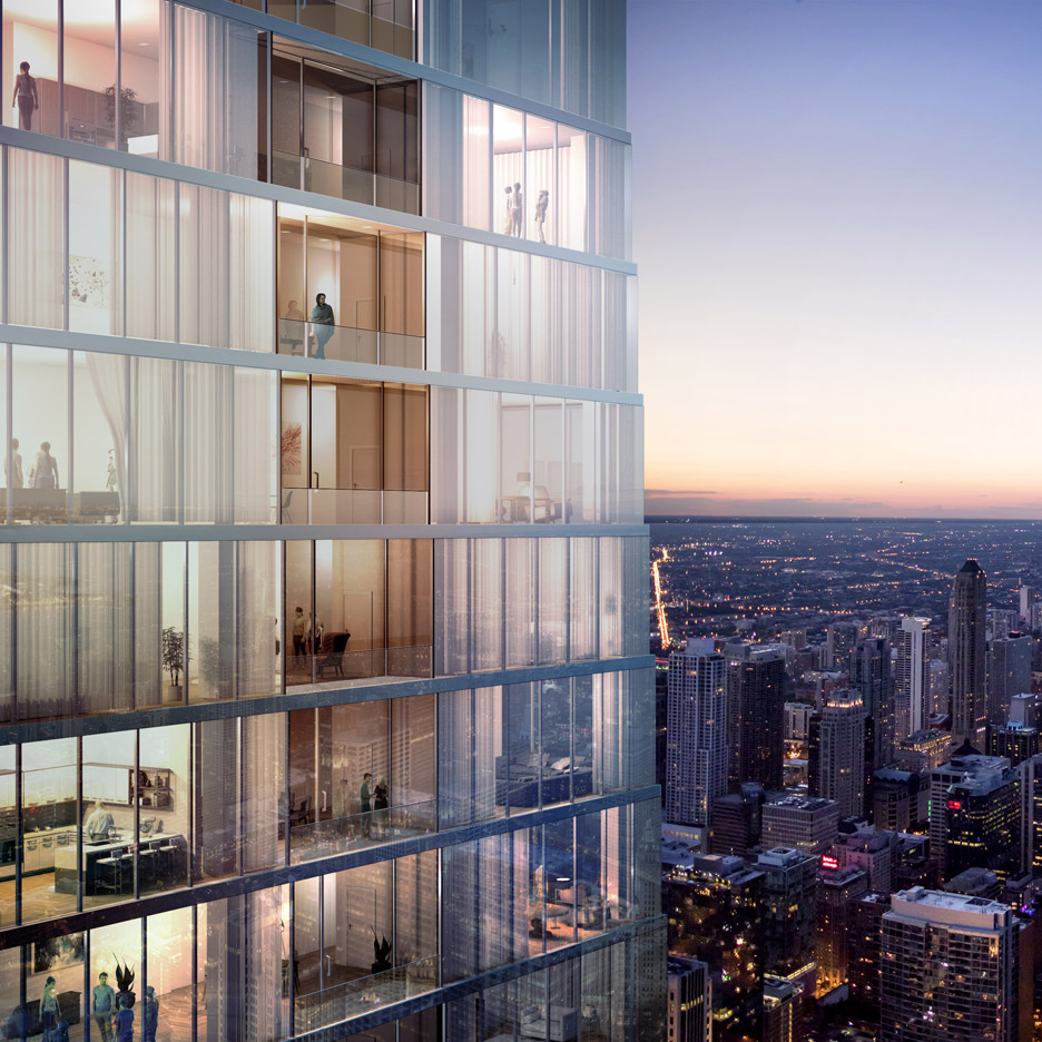 Studio Gang's supertall Chicago tower will include $17.1 million penthouse
