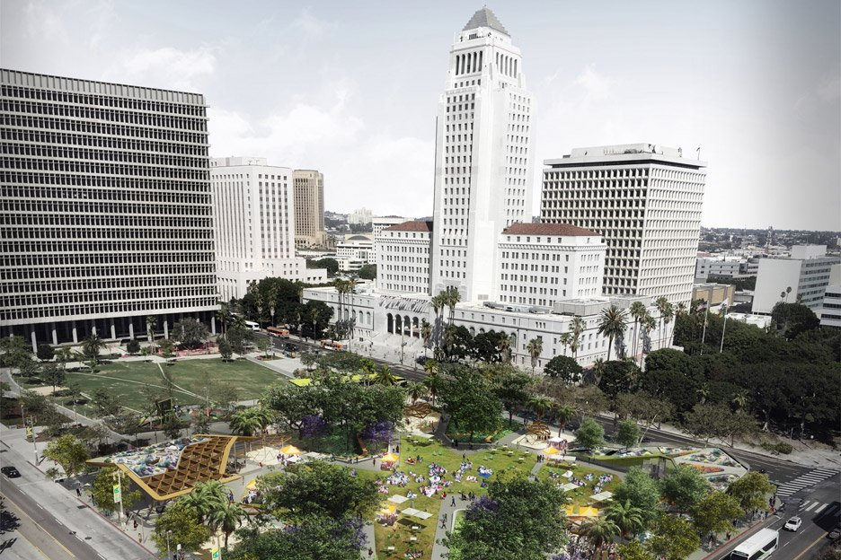 Fab Civic Center proposal in Los Angeles, USA by AECOM architecture and masterplanning