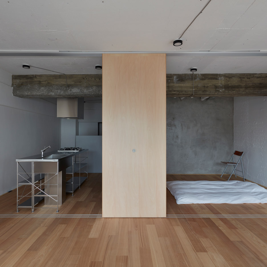 japanese apartment interior design ideas japanese apartment design FrontOfficeTokyo strips back small Tokyo apartment by pulling down walls