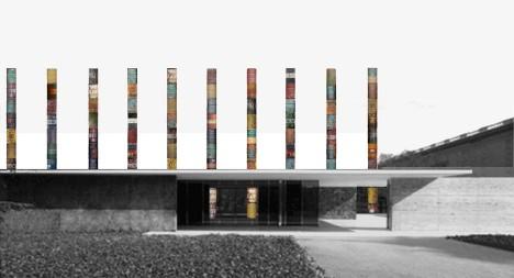 Columns at Barcelona Pavilion