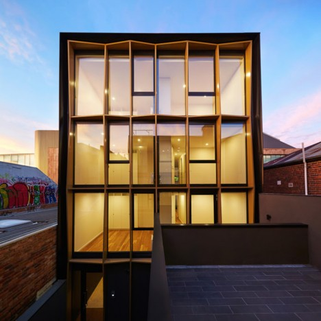 DROO Projects creates golden facades for a pair of Melbourne apartment blocks
