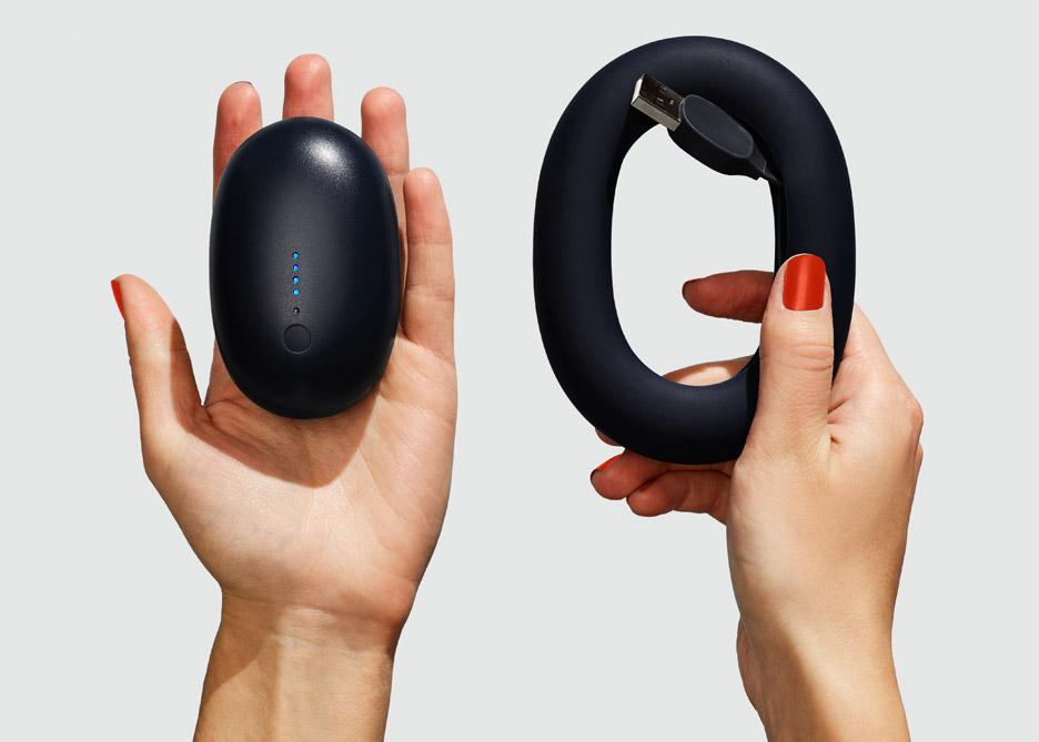 Bump portable charger by Karim Rashid for Push and Shove