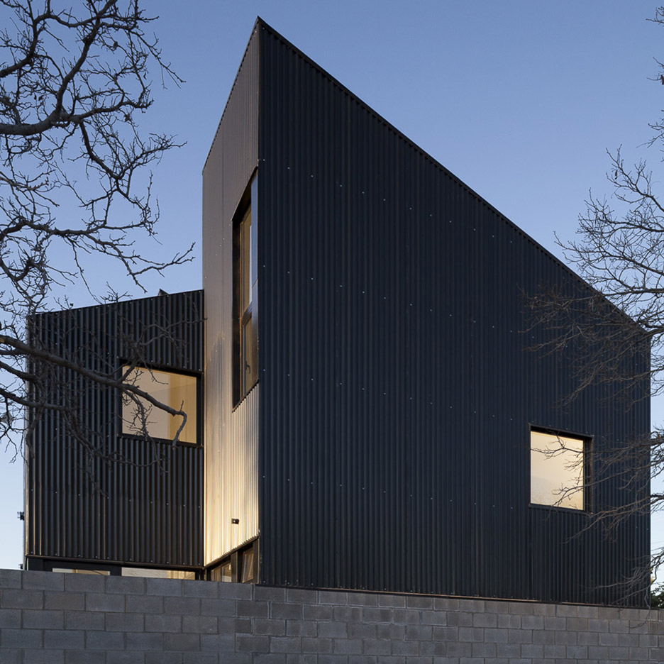 Galvez Autunno Creates Black Housing Blocks With Jagged
