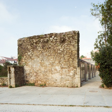 Stone tannery building transformed by Arrokabe Arquitectos into cultural venue