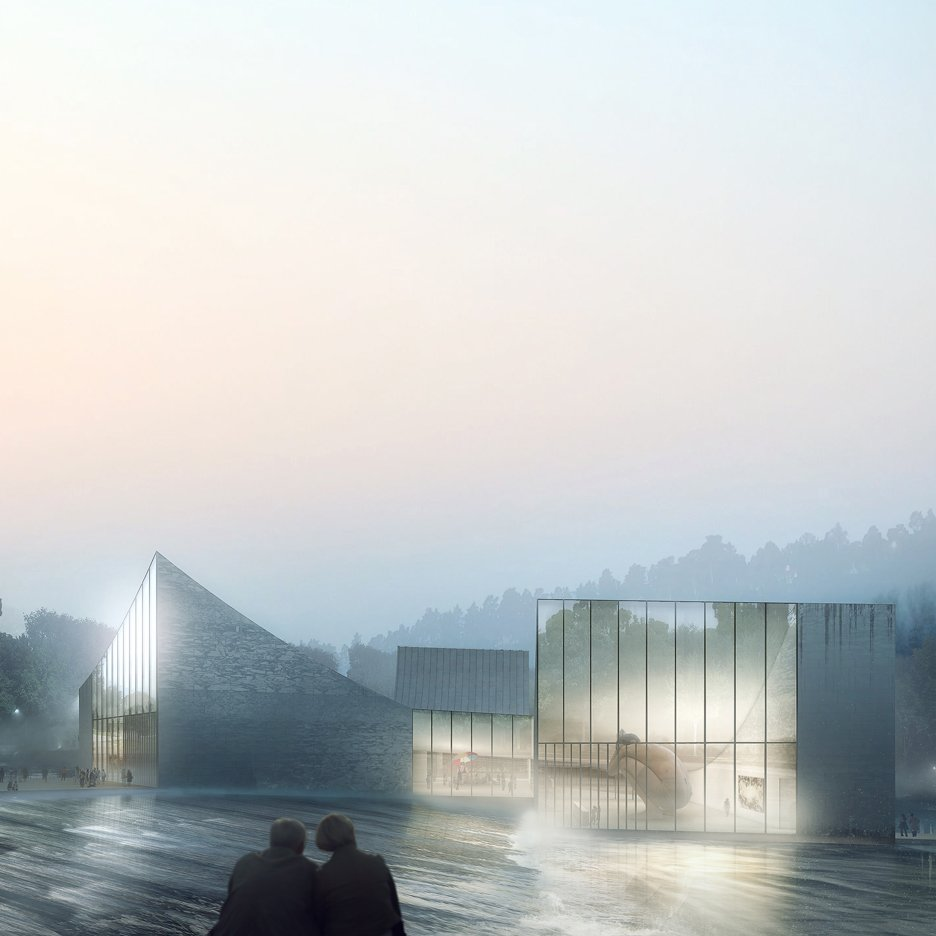 Schmidt Hammer Lassen Architects reveals plans for clubhouse and spa over a Chinese lake