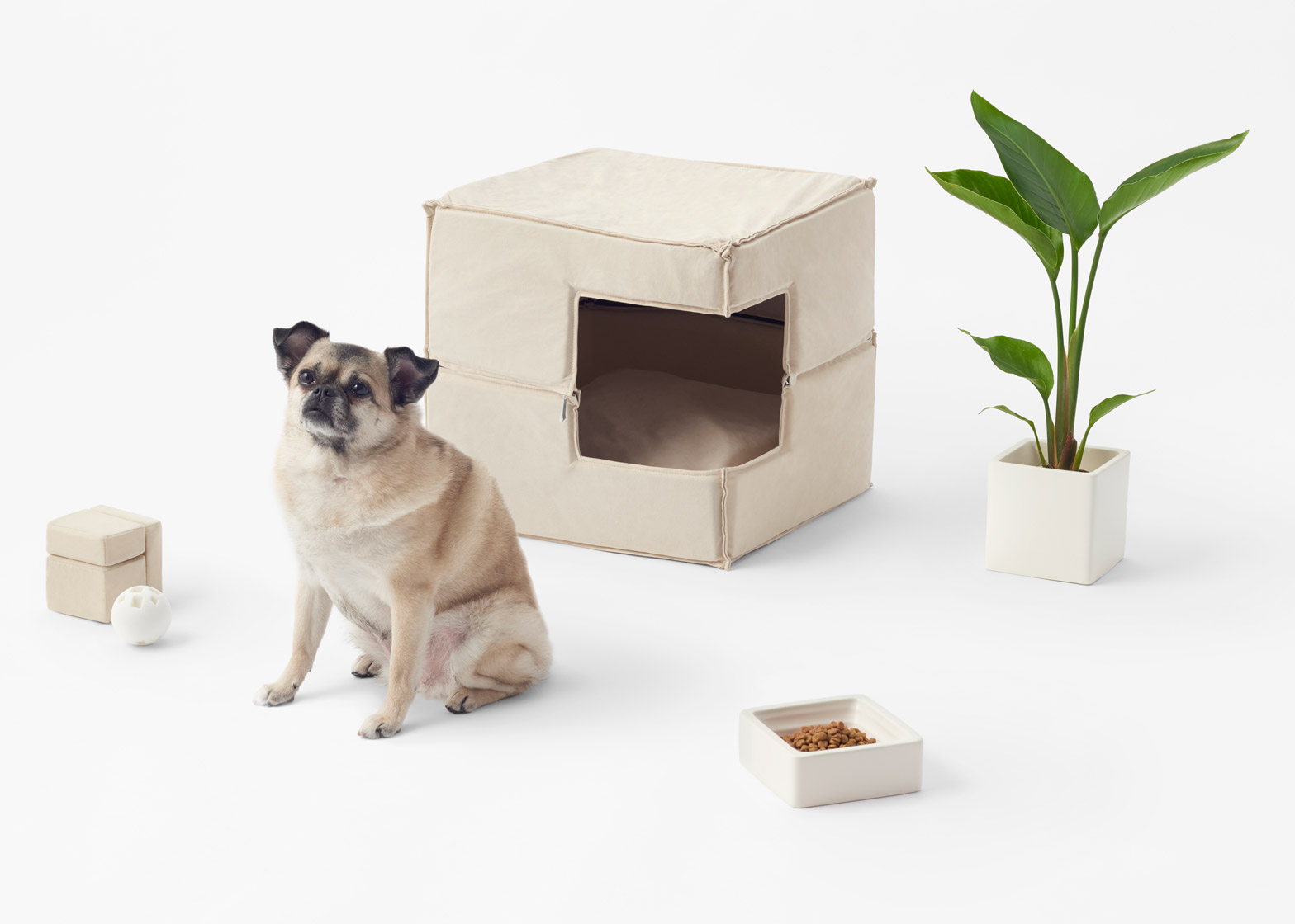 Cubic pet goods by Nendo