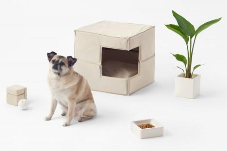 Cubic pet goods by Nendo