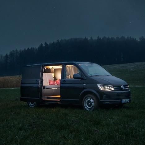 "Nils Holger Moormann designs minimal interior for ""inconspicuous"" Volkswagen Bus"