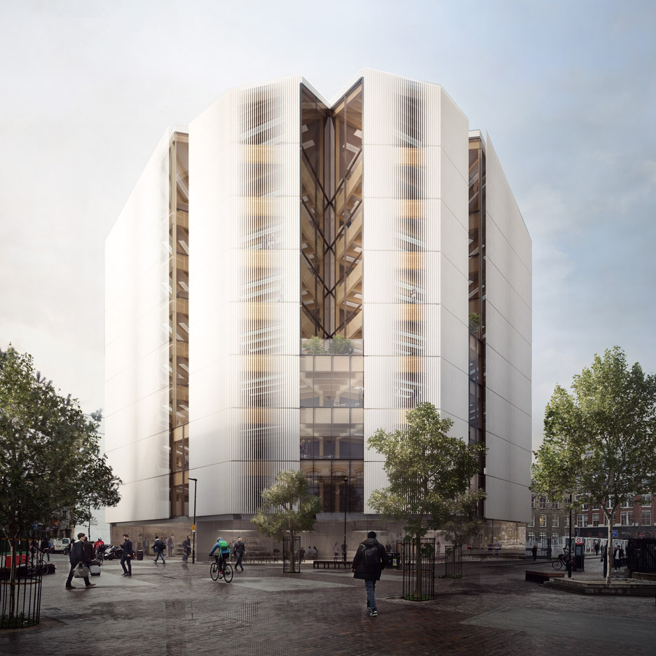 Shoreditch office by Waugh Thistleton will show off innovative timber structure