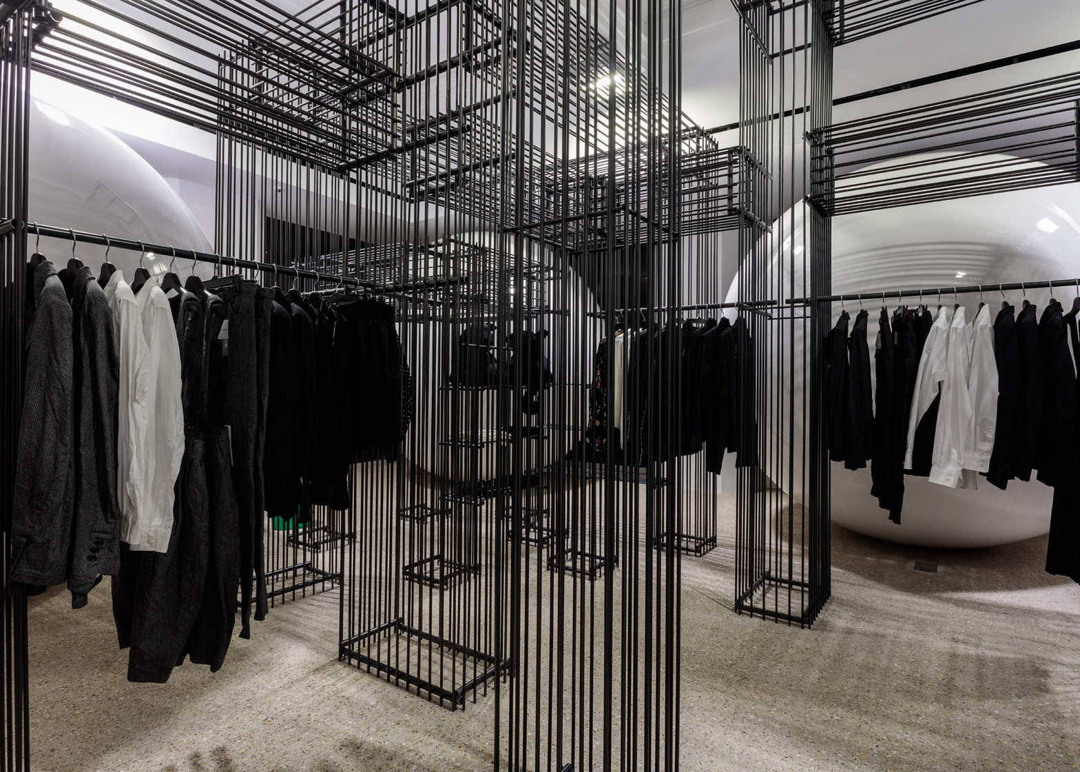 Black Comme Des Garçons on the ground floor