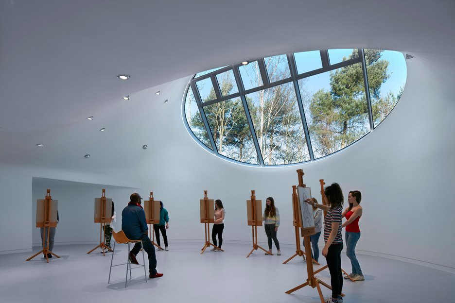 Drawing Studio by Peter Cook at Crab Studio for Arts University Bournemouth UK