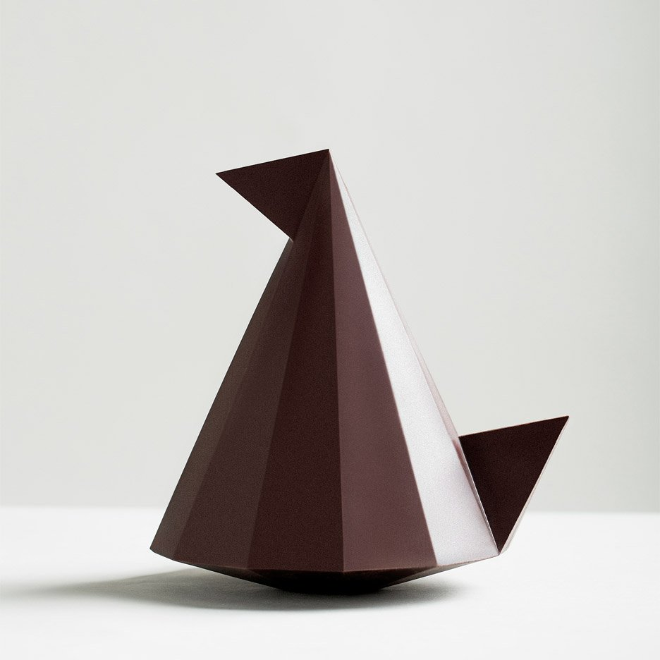 Pierre Tachon designs geometric hen-shaped chocolate Easter egg