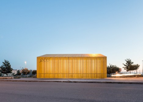 Eco Bar and Cafe by Giuseppe Gurrieri in Sicily, Italy. Photograph by Filippo Poli