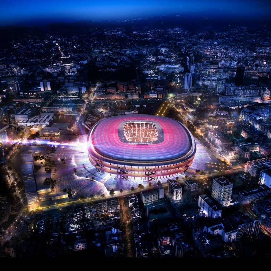 Camp Nou por Nikken Sekkei