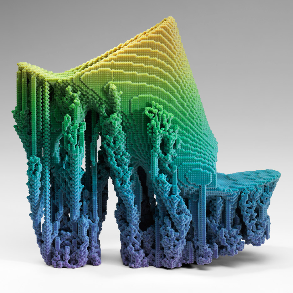 Molecule Shoe designed by Francis Bitonti, 2015. Printed with Stratysys Connex 3D Printer with printing software by Adobe Photoshop